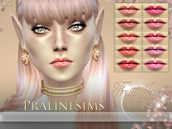 Fruit Juice Lips WITH AND WITHOUT TEETH by Pralinesims