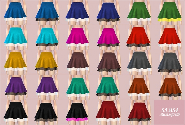 Double flared mini skirts от Marigold