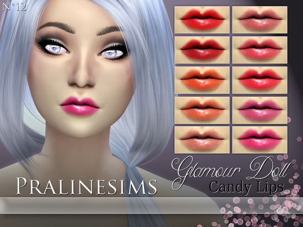 Glamour Doll Candy Lips by Pralinesims