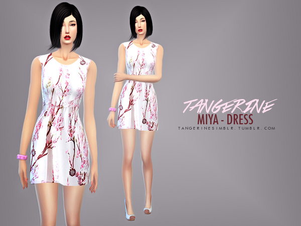 Miya - Dress by tangerinesimblr