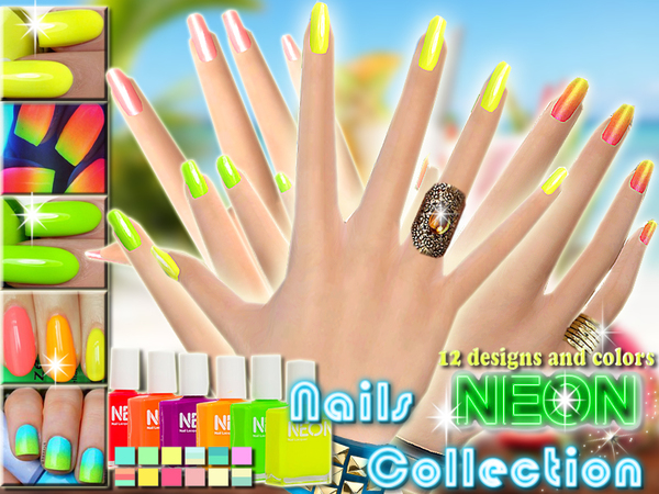 Neon Nails Summer Collection by Pinkzombiecupcakes