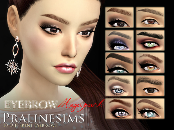 Eyebrow Megapack~ 10 DIFFERENT EYEBROWS by Pralinesims