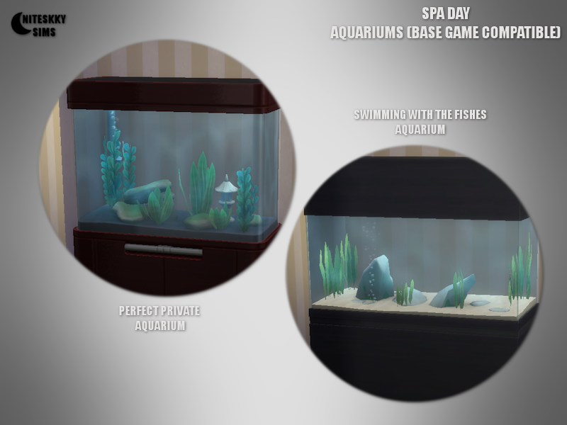 Spa Day Aquariums (Base Game Compatible) by NiteSkkySims