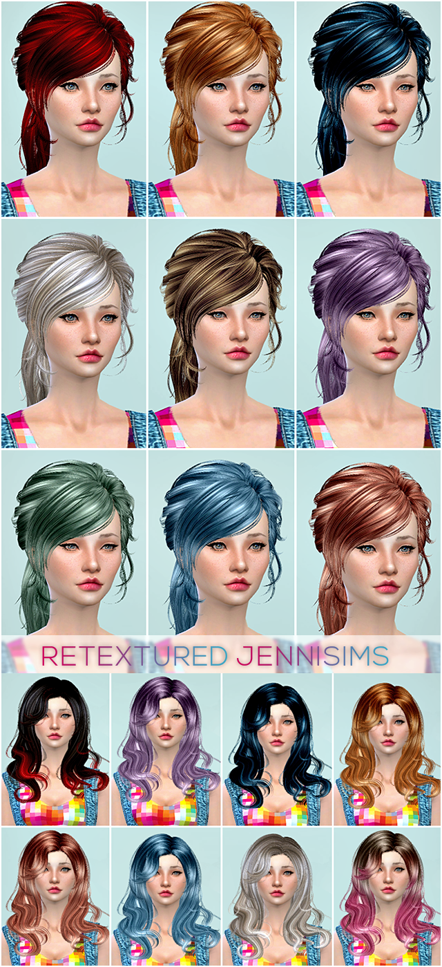 Newsea Lucky Star Hair, Newsea Anthem Hair retextured by Jenni Sims