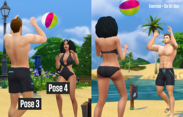 Beach Poses by LumiaLoverSims