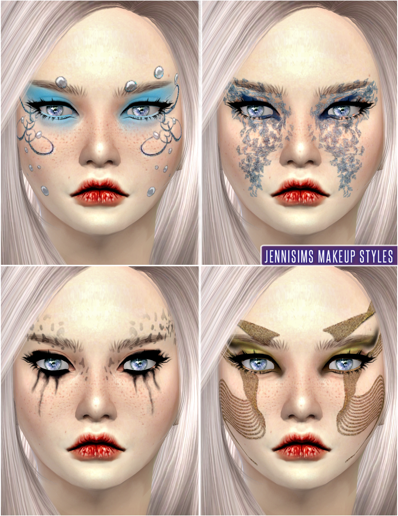 Makeup So Soft Fantasy Fairies EyeShadow Male /Female (Alien/Humans) by JenniSims