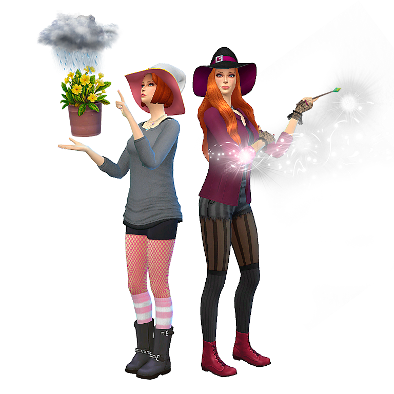 2 Makin Magic poses from Sims 1 by Loverettsims