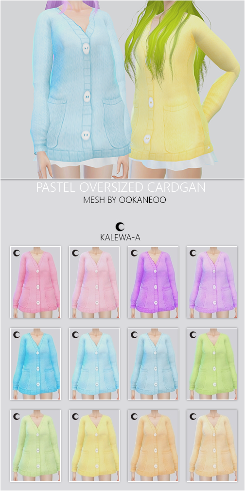 Kalewa-a  Clothing, Female : Pastel Over sized Cardigan