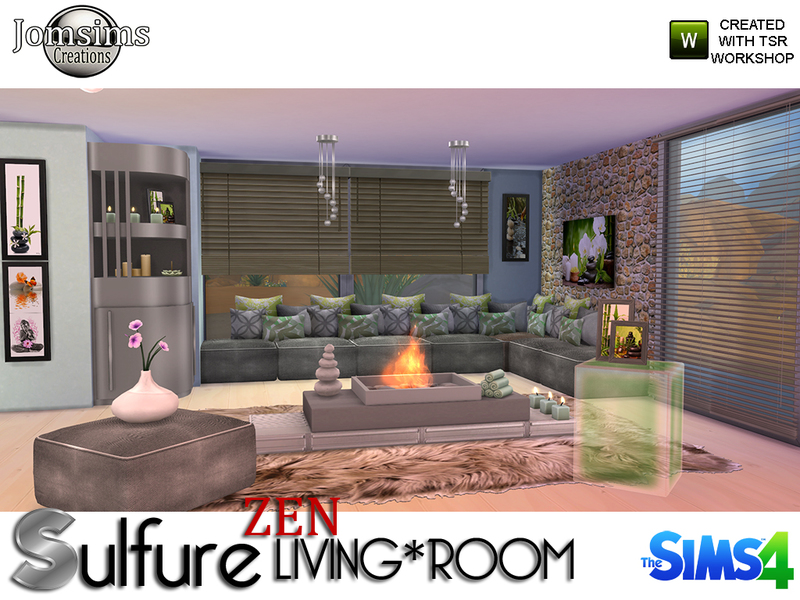 Sulfure zen living room BY jomsims