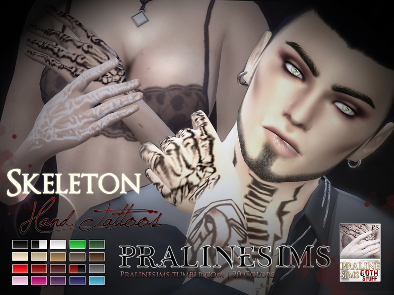 Skeleton Hand Tattoos BY Pralinesims
