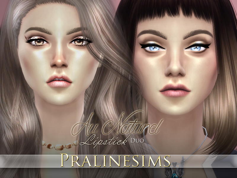 Au Naturel Lipstick Duo  BY Pralinesims