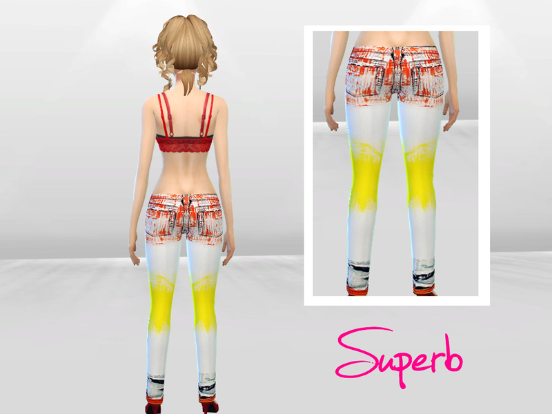 Multicolor Spider Print Jeans BY McLayneSims
