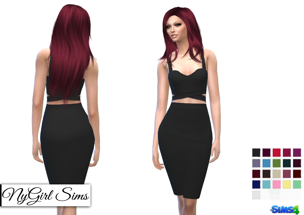 Crossed Tank Two Piece Pencil Dress by NyGirl
