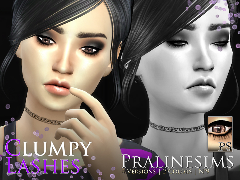 Clumpy Lashes Pack BY Pralinesims