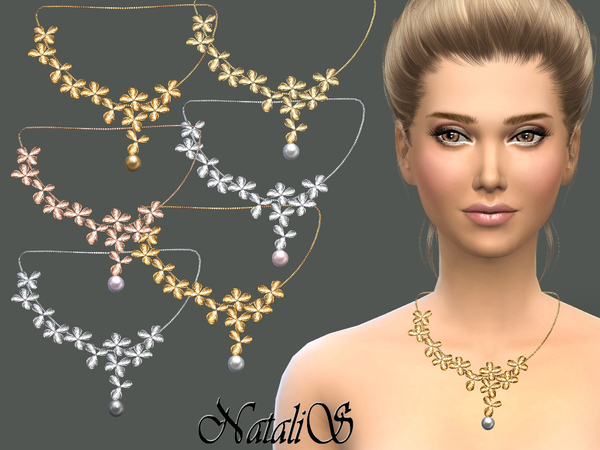 NataliS_Orchid flowers necklace