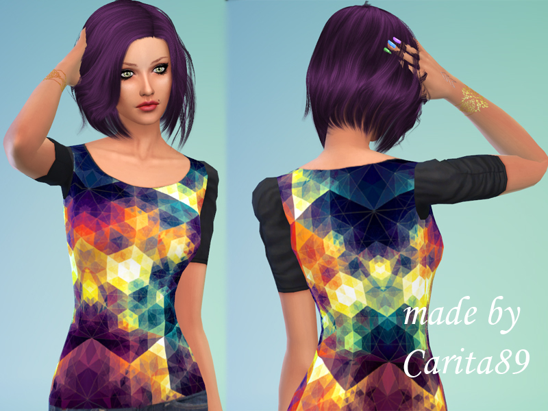 Graphic patterned blouse BY Carita89