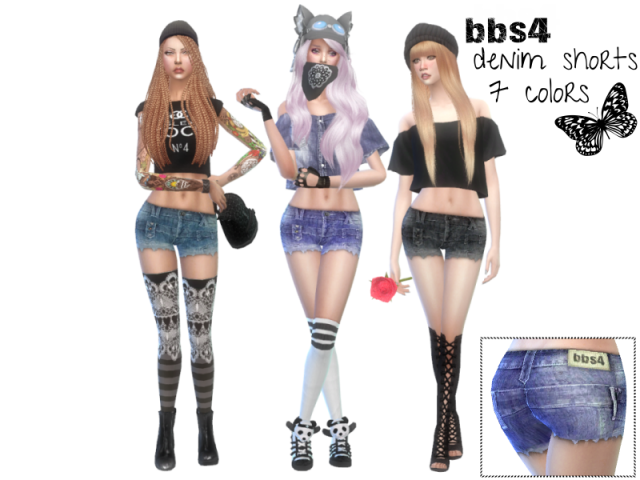 Denim Shorts in 7 colors by bbs4