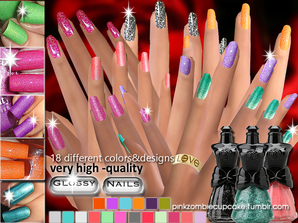 Sublime Collection-18 Glossy Nails by Pinkzombiecupcakes