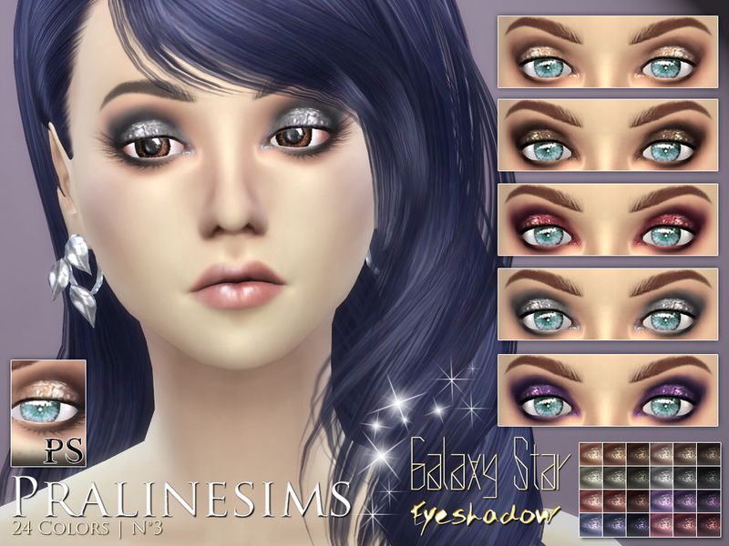 Galaxy Star Eyeshadow BY Pralinesims