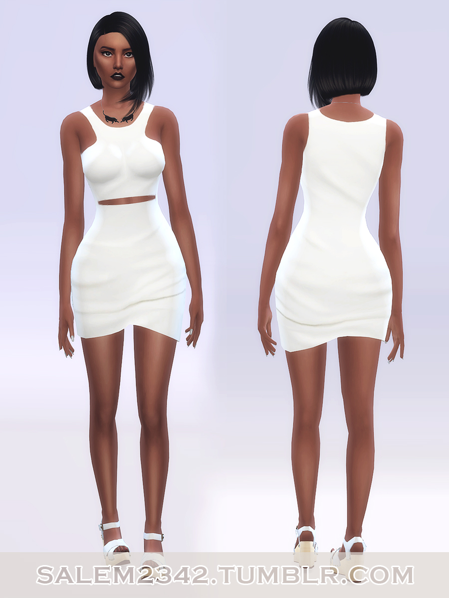 Front Cut Out Mini Dress by salem2342