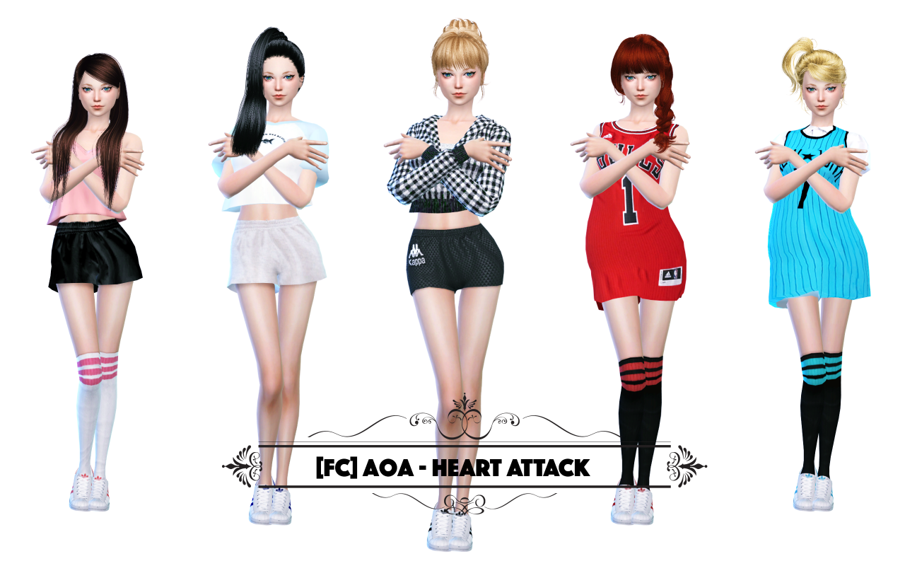 CAS AOA - HEART ATTACK DANCE POSES SET by flowerchamber