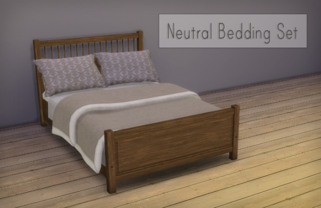 Natural Bedding Set by Simsrocuted