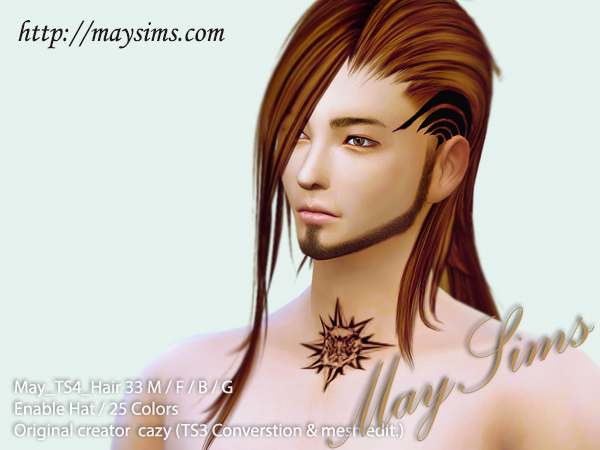 Hair 33 Female, Male and Child от MaySims