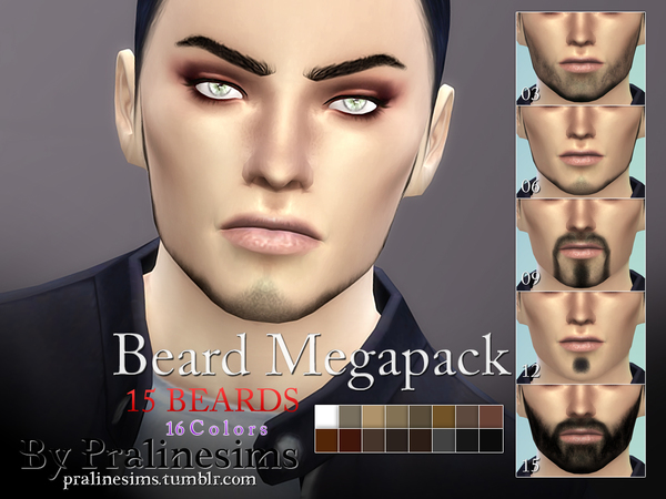 Beard Megapack~ 15 Beards by Pralinesims