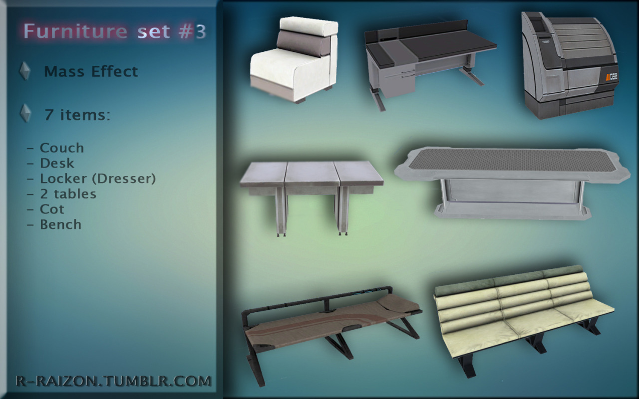 Mass Effect Furniture set #3 by Raizon