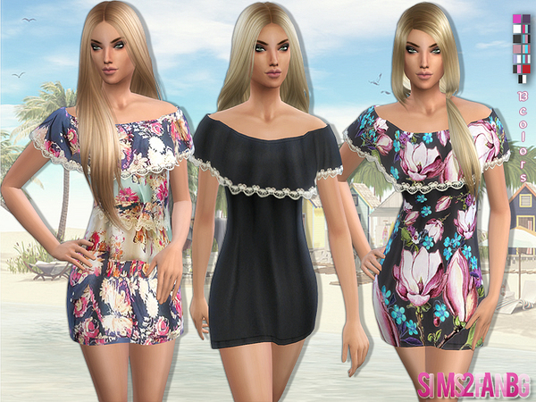 58 - Dress with shoulder sleeves by sims2fanbg