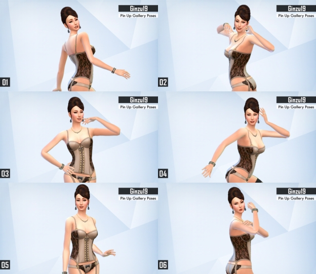 CAS Pin Up Gallery Poses от Ginzu19