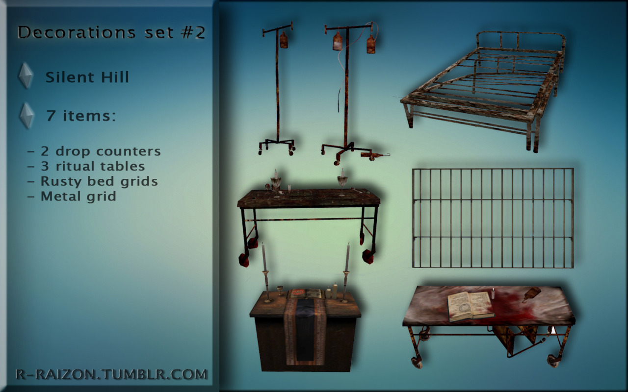 Silent Hill Decorations set #2 by Raizon