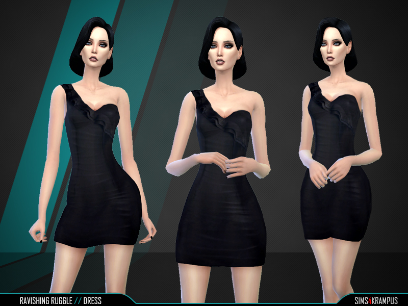 Ravishing Ruffle Dress BY SIms4Krampus
