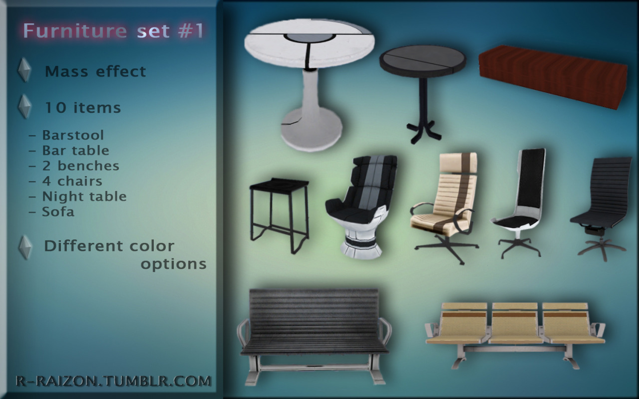 Mass Effect Furniture set #1 by Raizon