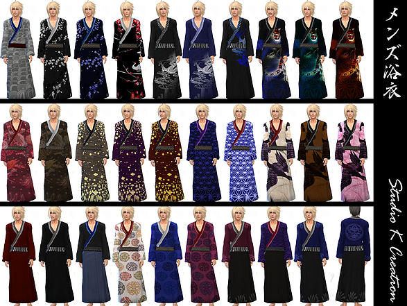 Yukata for male by StudioK TS4