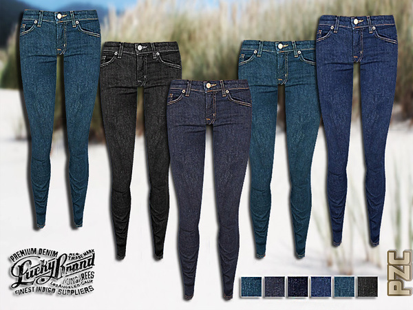 Dark Skinny Denim Jeans by Pinkzombiecupcakes