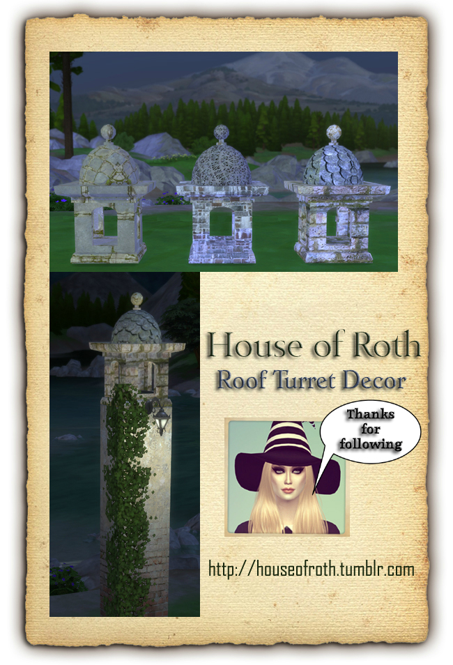 Roof Turret Decor by HouseOfRoth