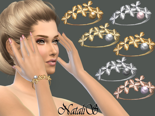 NataliS_Orchid flowers bracelet right