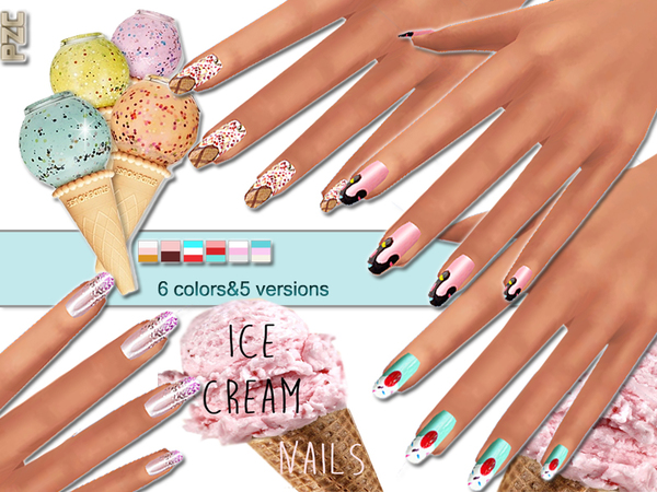 Ice Cream Nails Mini Collection by Pinkzombiecupcakes