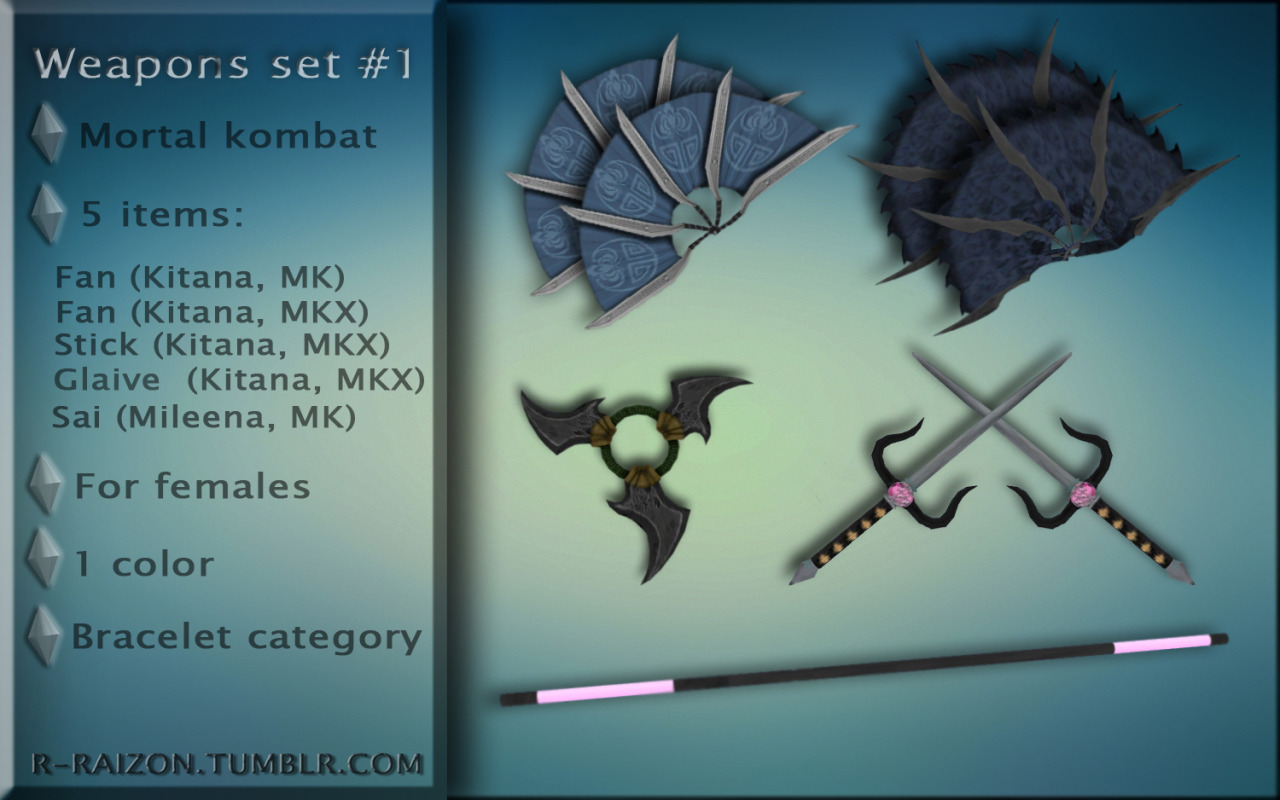 Mortal kombat Weapons set #1 by Raizon
