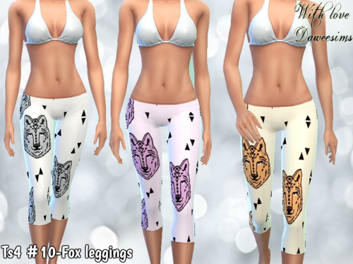 Ts4 #10-Fox leggings by Daweesims