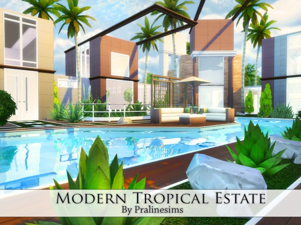 Modern Tropical Estate by Pralinesims