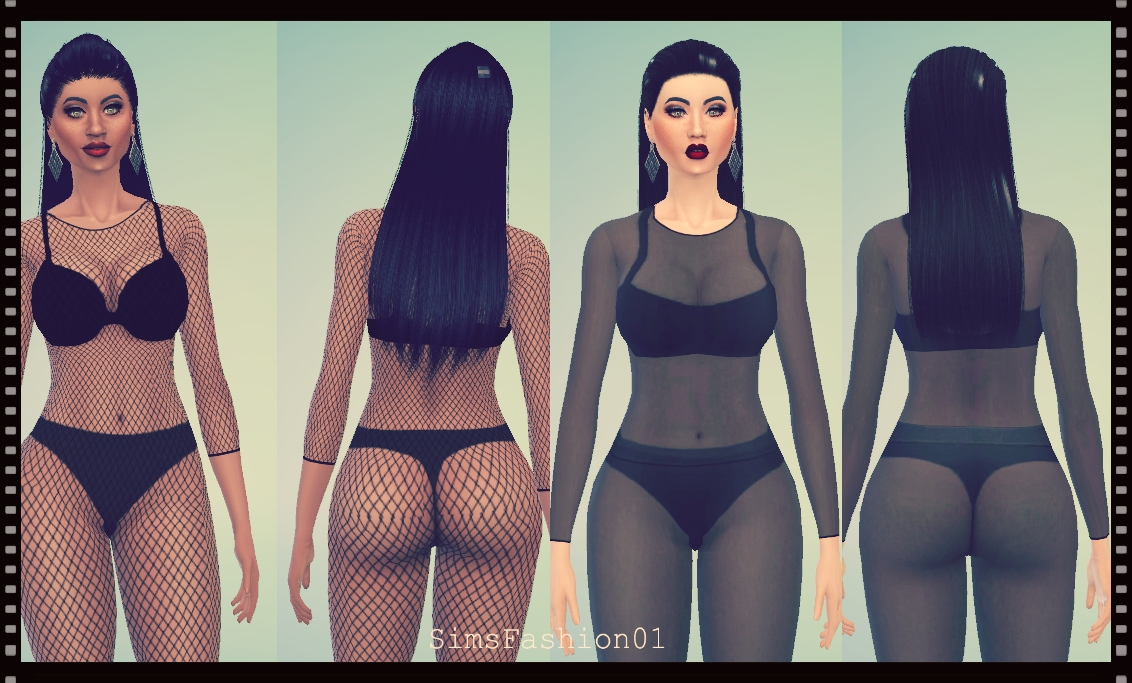 Fishnet Bodysuit by SimsFashion01