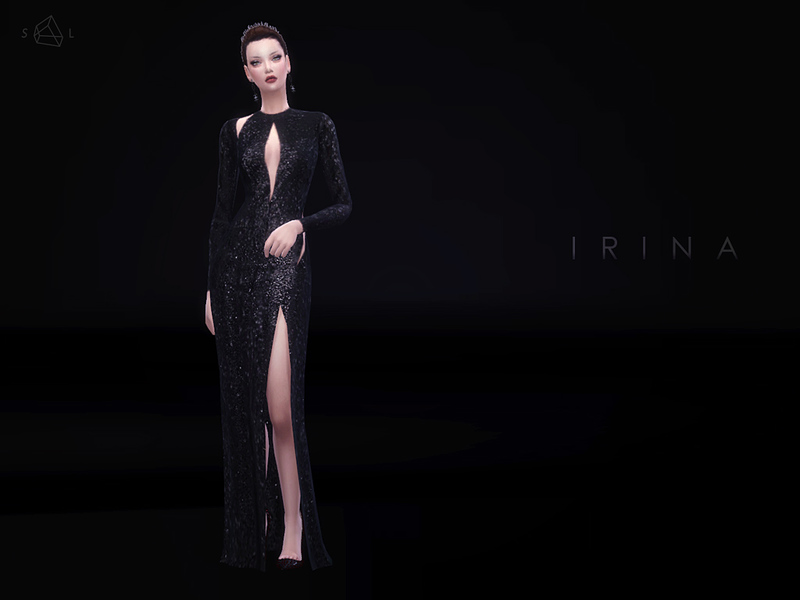 Cutout Sequined Gown IRINA  BY starlord