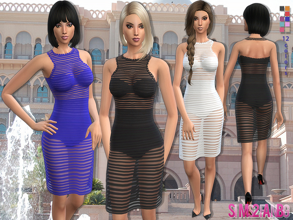 61 - Transparent mini dress by sims2fanbg
