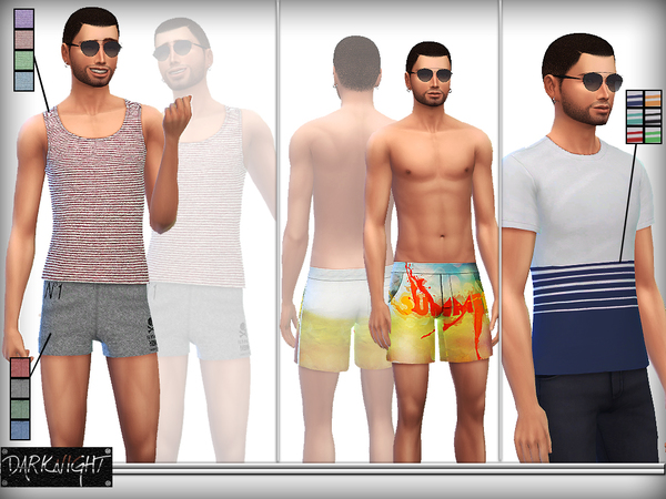 SET 03-Hot Summer Male Set by DarkNighTt