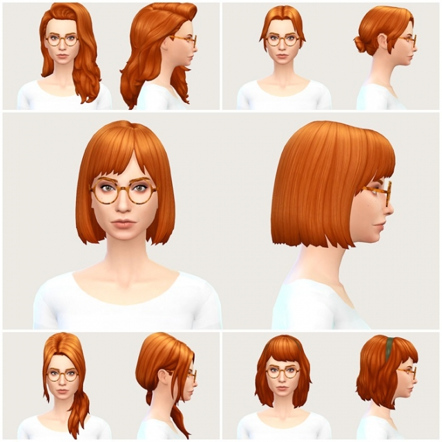 Прически из Cool Kitchen для базовой игры Base Game Compatible CKS Hair for Females by Llen