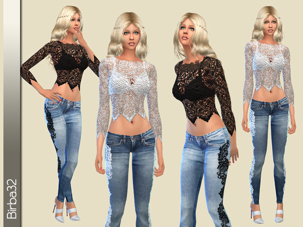 All lace and denim by Birba32