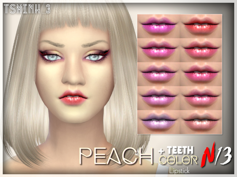 Peach Color Lipstick + teethCREATED BY tsminh_3