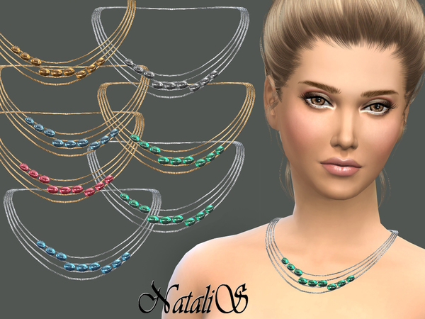 NataliS_Multiwire necklace with cabochons